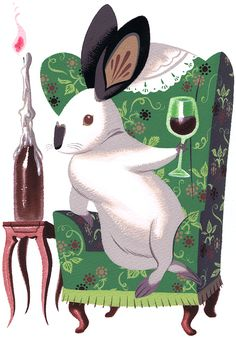 Classy Rabbit by Tiny Kitten Teeth / Pocketowl
