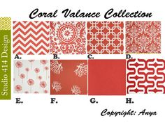 Hey, I found this really awesome Etsy listing at https://www.etsy.com/listing/172134797/coral-valance-coral-valencecoral-window