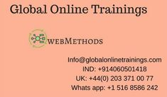WebMethods Training provides advanced 10.x,BPM ,BAM, ESB, CAF & Integration Server concepts.Best WebMethods online corporate Training by top Trainers.
