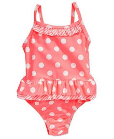Carter's Baby Swim, Baby Girls Neon Polka Dot One-Piece Swimsuit - Kids Baby Girl (0-24 months) - Macy's