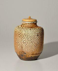 Antique Japanese Mino Kairagi-glazed tea caddy chaire 19th century