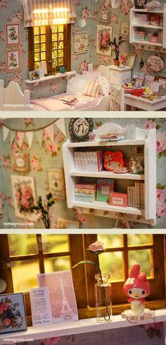 ♥ Custom Handmade Diorama Sweet Roses ♥     1/6 Scale dolls: Blythe, Barbie, pullip, Monster High ,etc...