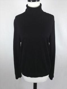 Banana Republic Sweater Wool Merino Black Turtleneck Luxury Layers Womens M | eBay