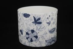 This stunning dark blue chintz ceramic tea light holder is designed and handmade…
