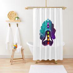 Chakra Meditation, Chiffon Tops, House Design, Yoga, Curtains, Shower, Printed, Awesome, Shirt