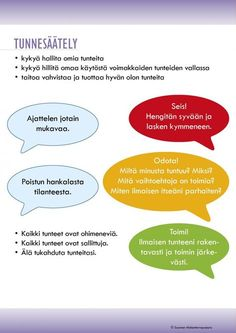 Tunnetaitojen oppitunti | Suomen Mielenterveysseura Emotional Child, Social Emotional Learning, Social Skills, Learning Support, School Health, Home Economics, Speech Language Therapy, Les Sentiments, Early Childhood Education