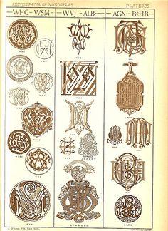 Antique Page of Monograms-125   Flickr: Intercambio de fotos