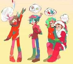 merry xmas by zukich on DeviantArt South Park Anime, South Park Fanart, South Park Characters, Fictional Characters, Otp, Kyle South Park, Mean Friends, Stan Marsh, Eric Cartman