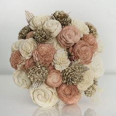Three Color Bridal Bouquet