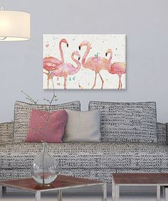 Look at this #zulilyfind! Anne Tavoletti Flamingo Fever I Giclée Wrapped Canvas #zulilyfinds