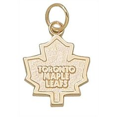 LogoArt Toronto Maple Leafs 10kt Gold Charm Art Toronto, National Hockey League, Toronto Maple Leafs, Office Gifts, Art Logo, Nhl, Charms, Flag, Leaves