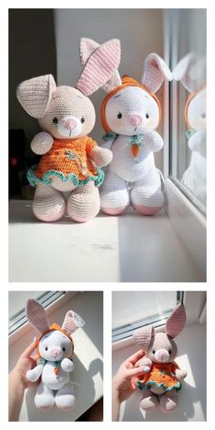 Easter Crochet Patterns, Crochet Bunny, Crochet Patterns Amigurumi, Crochet Dolls, Crochet Animals, Tiny Bunny, Diy Crafts To Do, Spring Crafts, Free Pattern