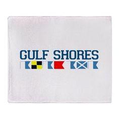 Gulf Shores - Alabama. Throw Blanket