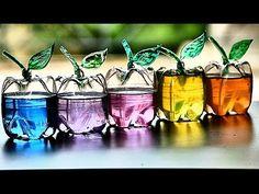 ペットボトルでりんごの小物入れの作り方☆リンゴボックスDIY♥リサイクル工作 | Handful