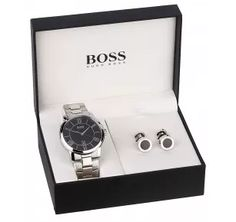 Make it a Valentines Day your partner will remember with this Hugo Boss men's stainless steel bracelet watch and cufflink set from Fraser Hart, Hugo Boss Watches, Watches For Men, Men's Watches, Stainless Steel Watch, Stainless Steel Bracelet, Cufflink Set, Valentines Gifts For Him, Hugo Boss Man, Black Bracelets