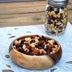 Healthy Energy Snack Mix by WillCookForSmiles Real Food Recipes, Snack Recipes, Yummy Food, Energy Snacks, Healthy Snacks, Healthy Recipes, Yummy Snacks, Foods With Gluten, Love Food