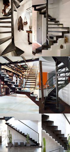 stairs,escalier,escaleras,design,diseño,metal