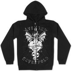 Avenged Sevenfold print around a Dagger graphic citing Tonight The World Dies