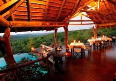 Nedile Lodge in die Welgevonden Game Reserve, Limpopo.