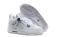 Air jordan 4 white women basketball shoes