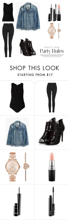 """Bez tytułu #171"" by lollla on Polyvore featuring moda, Miss Selfridge, Topshop, Madewell, Michael Kors i MAC Cosmetics"