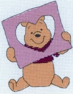 Pooh's Peeping Heart - Disney cross stitch kit