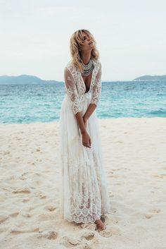 Model wears Spell Bride duster
