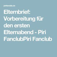 Elternbrief: Vorbereitung für den ersten Elternabend - Piri FanclubPiri Fanclub
