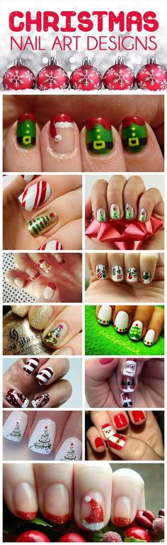 Easy DIY Christmas Nail art designs | Christmas nails