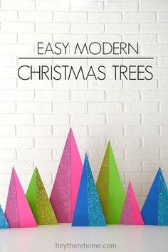 Modern Christmas Trees DIY