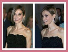 """Letizia Ortiz, la splendida regina di Spagna, ha sfoggiato un nuovo accattivante taglio di capelli a caschetto medio corto alla cerimonia del """"Woman Magazi"""