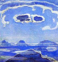 Ferdinand Hodler,Eiger, Monch and Jungfrau in Moonlight, 1908