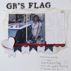 My scrapbook layout GB'S FLAG