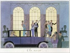 Farewell, Engraved by Henri Reidel, 1920 (Litho) Giclee Print by Georges Barbier - AllPosters.ca