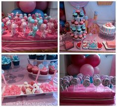 @christiane Pink and Blue Sweets Table... maybe you will get some more ideas!