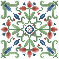 The Floss Box | Biscornu 307 Pdf pattern