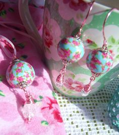 Pink and blue floral kath kidston inspired by TheEnglishEclectic, $52.00