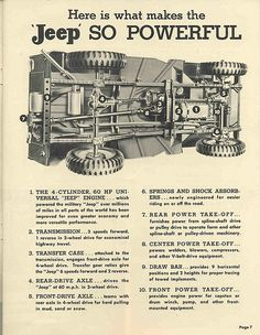 #Jeep 1940s Ad - Undercarriage