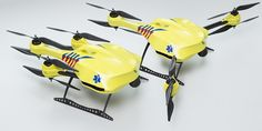 Drone carrying CPR equipment. Way faster than ambulance