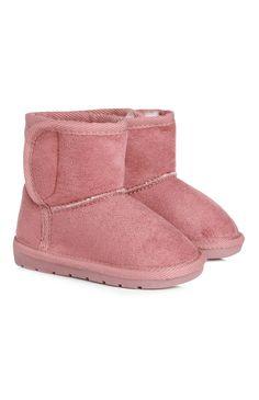 Primark - Botas com forro de lã cor-de-rosa