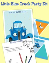 Little Blue Truck Party Kit...1st birthday party theme....maybe :)