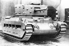 Matilda Black Prince - experimental combination between Matilda II and A24 turret. Only one prototype was built.