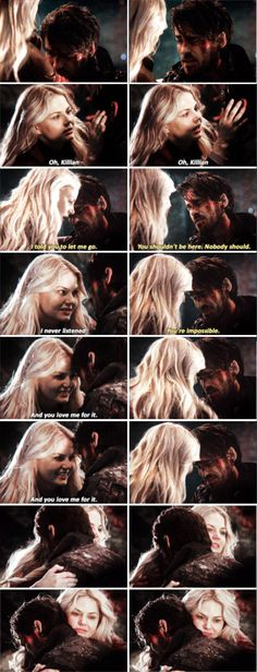 """I told you to let me go. You shouldn't be here. Nobody should"" - Killian and Emma reunited #OnceUponATime"