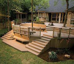 Patio Deck Railing Design: How to Build a Deck Step by Step - Modern Design Deck Railing Design, Patio Deck Designs, Deck Railings, Patio Design, Wood Railing, Balcony Design, Deck Steps, Diy Deck, Wooden Decks