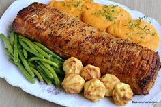 Cotlet de porc intreg la tava reteta de friptura rumena | Savori Urbane Pork Recipes, Cooking Recipes, Romanian Food, Cordon Bleu, Sausage, Goodies, Food And Drink, Turkey, Diet