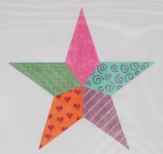 Star tree topper in our NEW Funky Fiesta collection