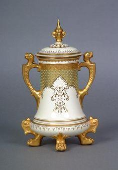 Coalport Porcelain (Shropshire, England) — Vase and Cover, c.1891