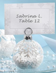 Ornament wedding place card holders