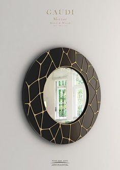 Gaudi Mirror - Wood And Bronze - Pont des Arts - Monzer Hammoud - Designer - Paris-