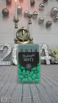 Midnight Mints - cute #newyearseve idea!
